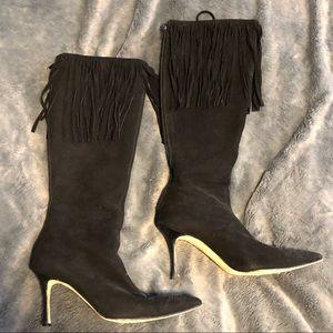 Manolo Blahnik Suede Fringe boot size 39 1/2